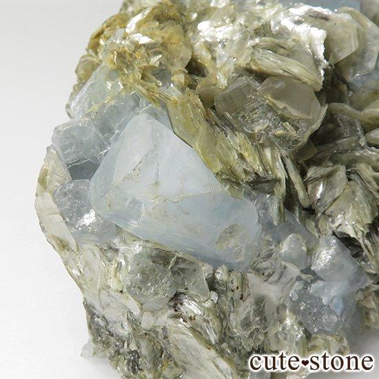 パキスタン産 大きなアクアマリンの母岩付き結晶(原石)222gの写真4 cute stone