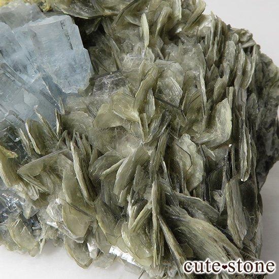 パキスタン産 大きなアクアマリンの母岩付き結晶(原石)222gの写真5 cute stone