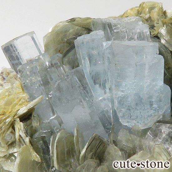パキスタン産 大きなアクアマリンの母岩付き結晶(原石)222gの写真6 cute stone
