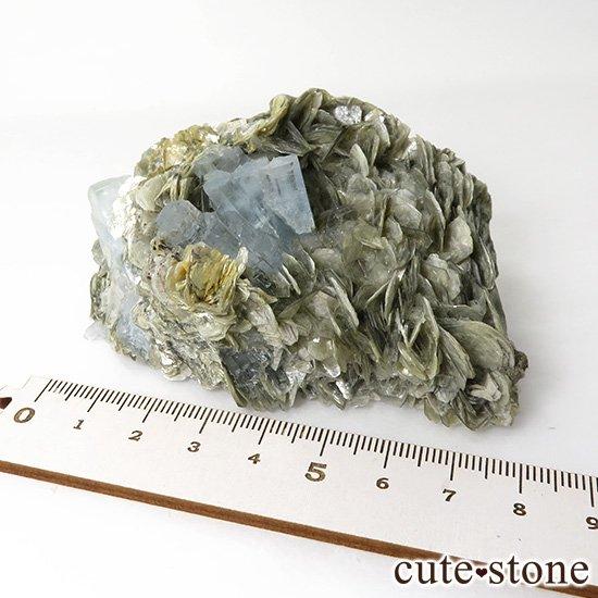 パキスタン産 大きなアクアマリンの母岩付き結晶(原石)222gの写真7 cute stone