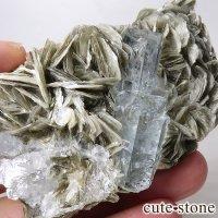 パキスタン産 アクアマリンの母岩付き結晶(原石)168gの画像