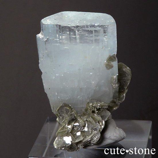 パキスタン産 アクアマリンの結晶(原石)13.8gの写真1 cute stone