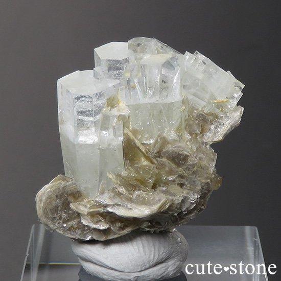 パキスタン産 アクアマリンの母岩付き結晶(原石)7.1gの写真0 cute stone