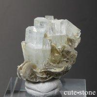 パキスタン産 アクアマリンの母岩付き結晶(原石)7.1gの画像