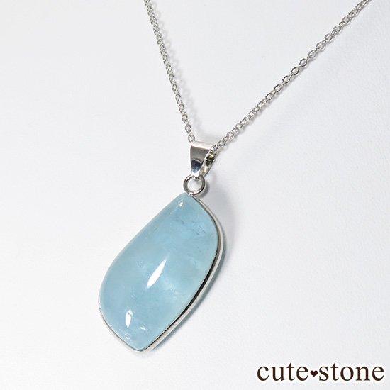 大きいサイズのアクアマリンのペンダントトップの写真3 cute stone