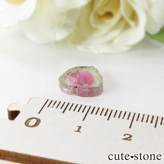 アフガニスタン産 ウォーターメロントルマリンのスライス(原石)3.6ctの写真2 cute stone