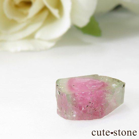 アフガニスタン産 ウォーターメロントルマリンのスライス(原石)5.7ctの写真1 cute stone