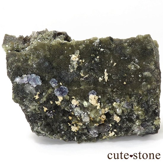 中国 湖南省産 ブルーフローライト&モリオンの標本(原石)336gの写真0 cute stone