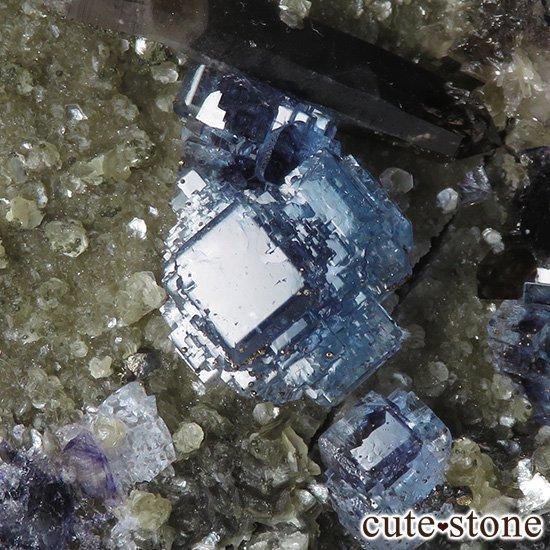 中国 湖南省産 ブルーフローライト&モリオンの標本(原石)336gの写真3 cute stone