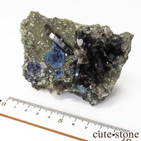 中国 湖南省産 ブルーフローライト&モリオンの標本(原石)336gの写真7 cute stone