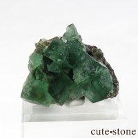 イングランド ロジャリー鉱山産 蛍光フローライトの母岩付き結晶(原石)20gの画像