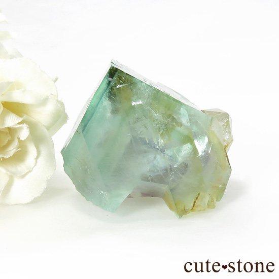 中国 内モンゴル産 グリーンフローライトの原石 77gの写真0 cute stone