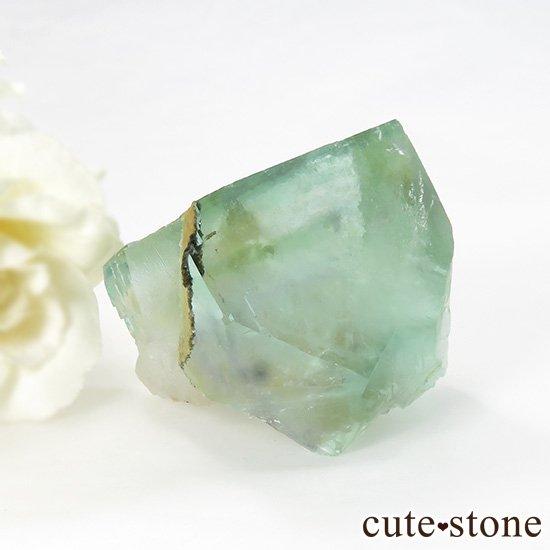 中国 内モンゴル産 グリーンフローライトの原石 77gの写真1 cute stone