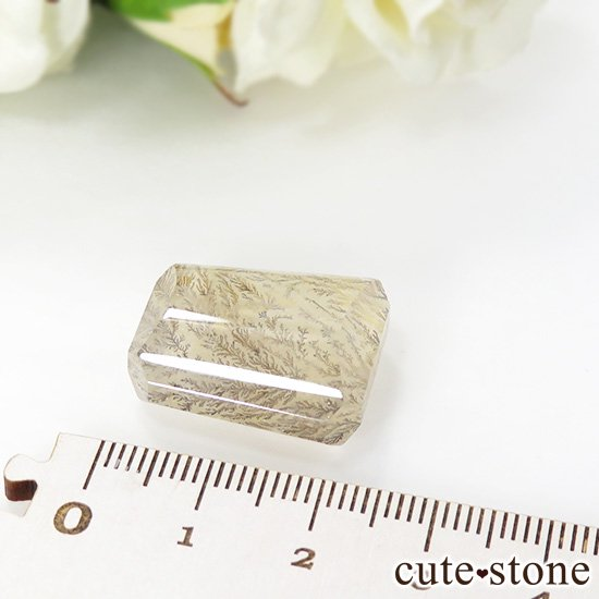マダガスカル産 デンドリティッククォーツのルース 7.1gの写真1 cute stone