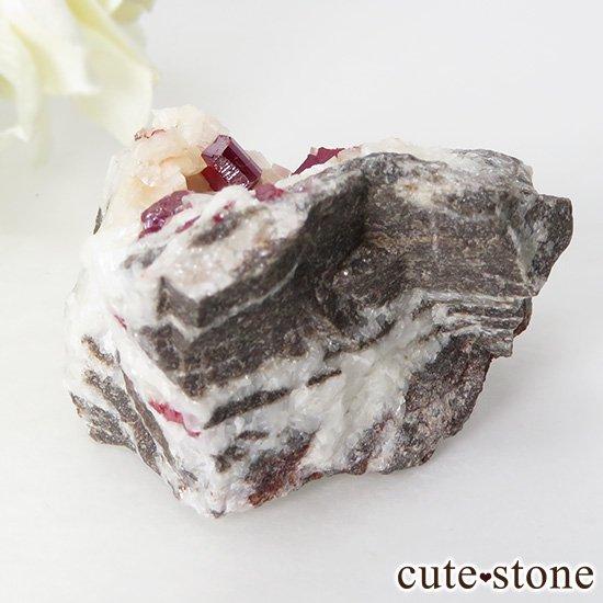 辰砂(シンシャ)シナバーの母岩付き原石 63g