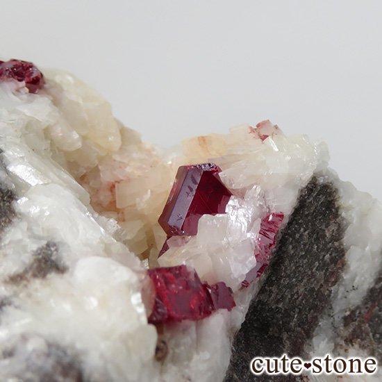 辰砂(シンシャ)シナバーの母岩付き原石 63gの写真1 cute stone