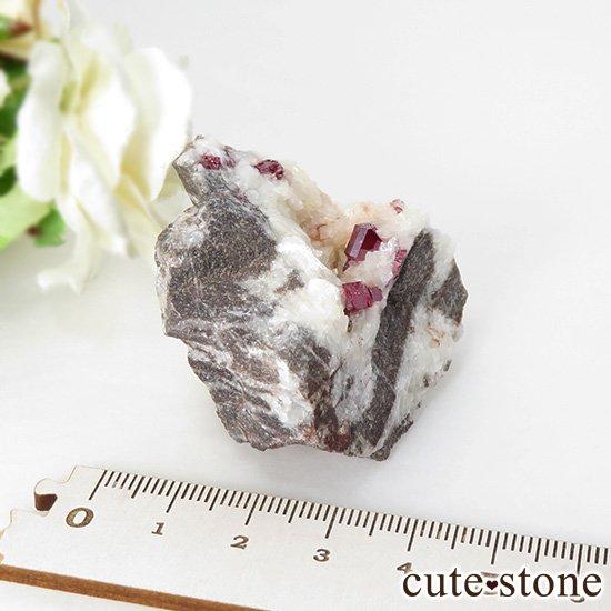 辰砂(シンシャ)シナバーの母岩付き原石 63gの写真5 cute stone