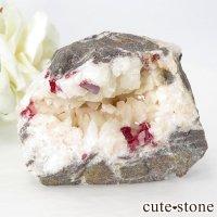 辰砂(シンシャ)シナバーの母岩付き原石 88gの画像