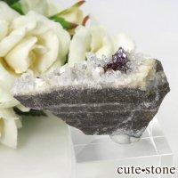 辰砂(シンシャ)シナバーの母岩付き原石 25gの画像