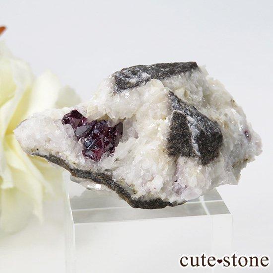 辰砂(シンシャ)シナバーの母岩付き原石 32g
