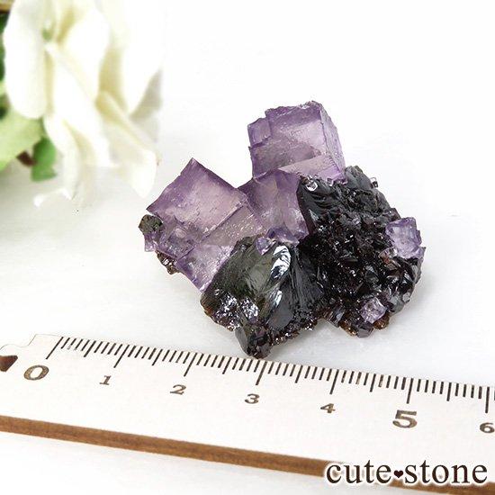 アメリカ エルムウッド鉱山産 パープルレッドフローライトの原石 41gの写真5 cute stone