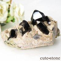 山東省産 モリオン(黒水晶・カンゴーム)の原石 クラスター 171gの画像