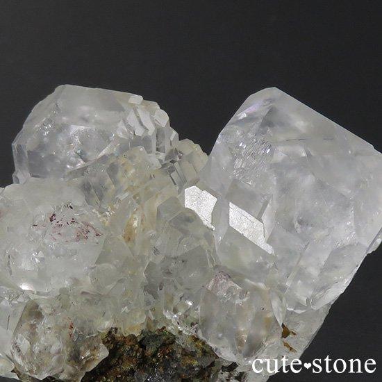 メキシコ ナイカ鉱山産 カラーレスフローライトの原石(クラスター)84gの写真1 cute stone