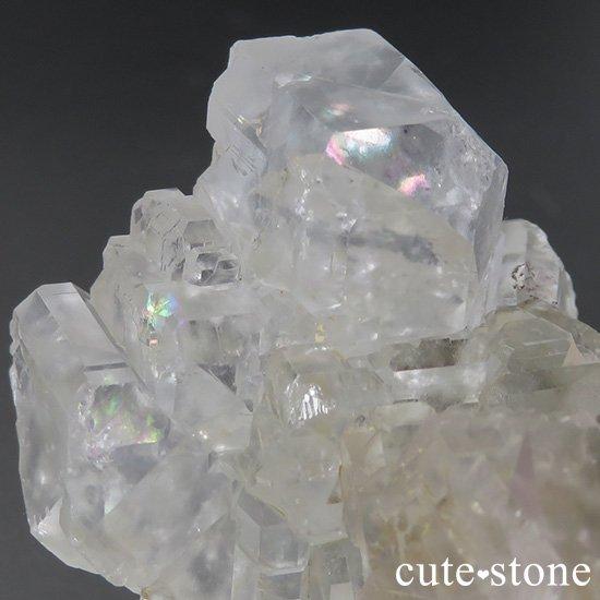 メキシコ ナイカ鉱山産 カラーレスフローライトの原石(クラスター)84gの写真4 cute stone