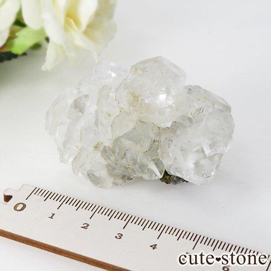 メキシコ ナイカ鉱山産 カラーレスフローライトの原石(クラスター)84gの写真5 cute stone