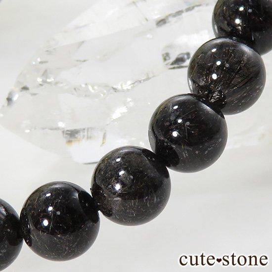 【1/2売り対象】 ブラックルチルインクォーツのシンプルブレスレット 8mmの写真2 cute stone