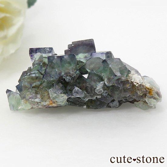 ナミビア産ブルー×グリーンフローライトの原石 49gの写真0 cute stone