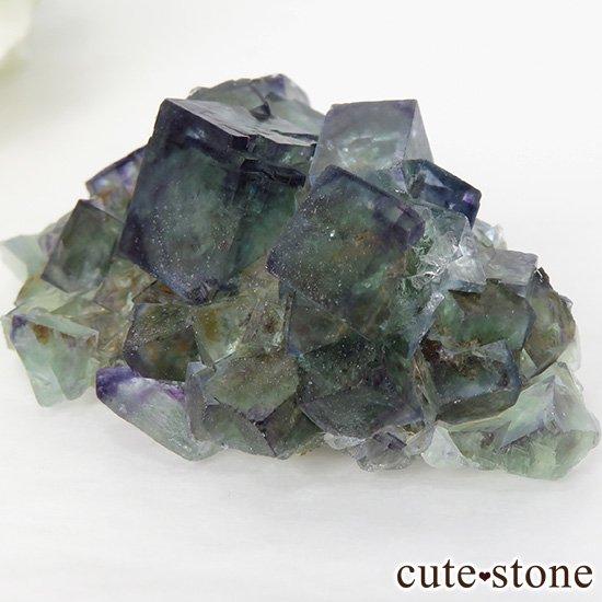 ナミビア産ブルー×グリーンフローライトの原石 49gの写真1 cute stone