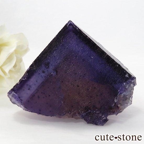 イリノイ州Denton Mine産 パープル×イエローフローライト(蛍石)の原石 195g