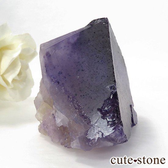 イリノイ州Denton Mine産 パープル×イエローフローライト(蛍石)の原石 195gの写真0 cute stone