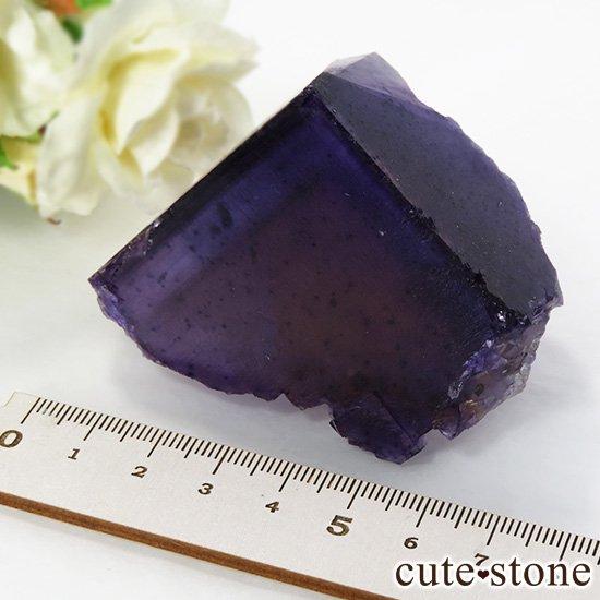 イリノイ州Denton Mine産 パープル×イエローフローライト(蛍石)の原石 195gの写真4 cute stone