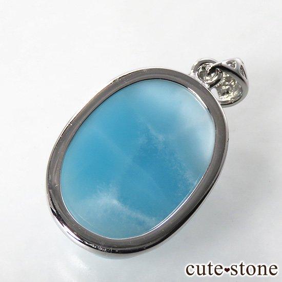 ラリマー silver925製ペンダントトップ(オーバル型) No.1の写真0 cute stone