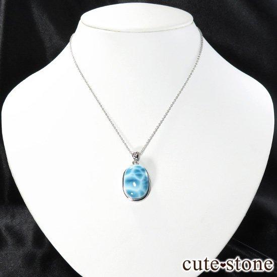 ラリマー silver925製ペンダントトップ(オーバル型) No.1の写真2 cute stone