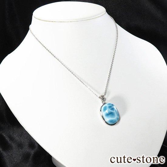 ラリマー silver925製ペンダントトップ(オーバル型) No.1の写真3 cute stone