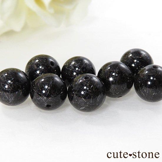 【粒売り】 ブラックルチルインクォーツ AAAA++ ラウンド 10mmの写真1 cute stone