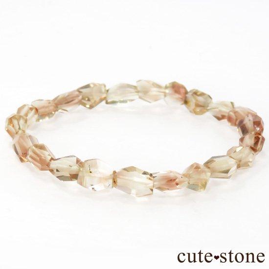 【1/2売り対象】 オレゴンサンストーン AAA タンブルカット シンプルブレスレットの写真0 cute stone