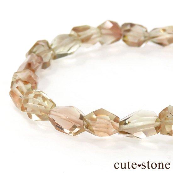 【1/2売り対象】 オレゴンサンストーン AAA タンブルカット シンプルブレスレットの写真1 cute stone