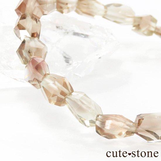 【1/2売り対象】 オレゴンサンストーン AAA タンブルカット シンプルブレスレットの写真2 cute stone