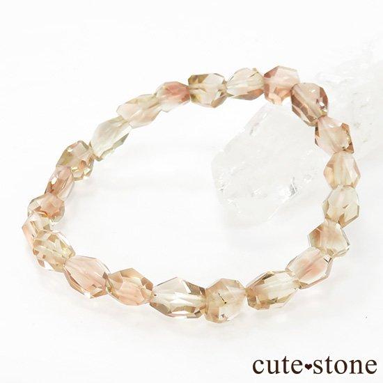 【1/2売り対象】 オレゴンサンストーン AAA タンブルカット シンプルブレスレットの写真4 cute stone