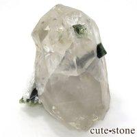 パキスタン産 グリーンキャップトルマリン & 水晶 289gの画像
