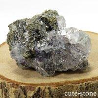 ペルー Huanzala Mine産 フローライト&パイライトの共生標本(原石)51gの画像