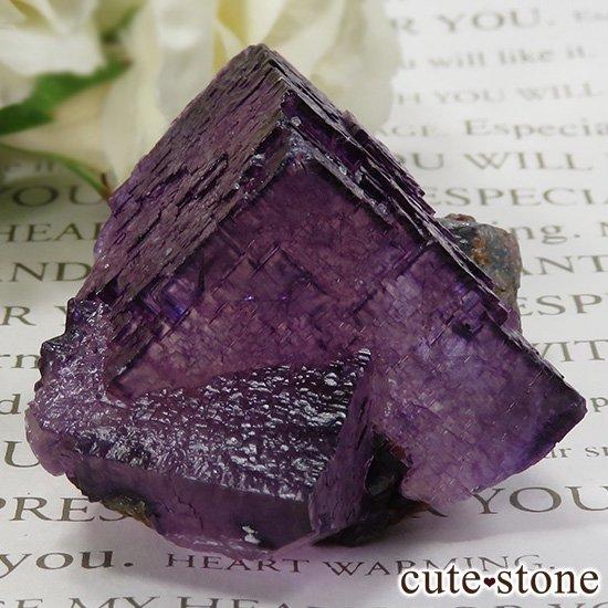 アメリカ エルムウッド鉱山産 パープルレッドフローライトの原石 69gの写真0 cute stone