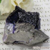 アメリカ エルムウッド鉱山産 パープルブルーフローライトの原石 35gの画像