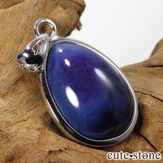 スギライト&リクトライト(ブルースギライト) silver925製 ペンダントトップ No.2の写真1 cute stone