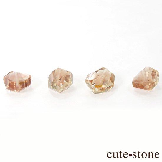 【粒売り】 オレゴンサンストーン AAA タンブルカット 4粒セットの写真1 cute stone