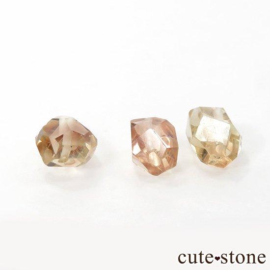 【粒売り】 オレゴンサンストーン AAA タンブルカット 3粒セットの写真0 cute stone